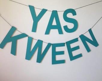 Yas Kween Banner, Broad City, Abbi Jacobson, Ilana Glazer, Yes Queen, Dorm Decor, Graduation Party, Congratulations Banner, Abbi and Ilana