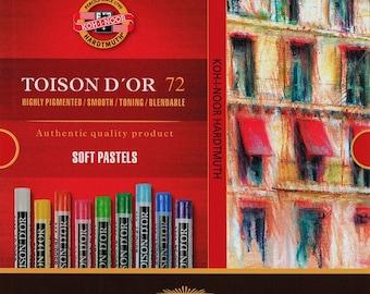 KOH I NOOR Toison dry pastels set 72 48 24 soft pastel colors 8517 8516