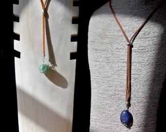 Lapis Lazuli Lariat Necklace, Oval Lapis Gift, Birthstone Pendant Protection, Gemstone Lariat, Long Necklace Gift For Her, Lapis Pendant