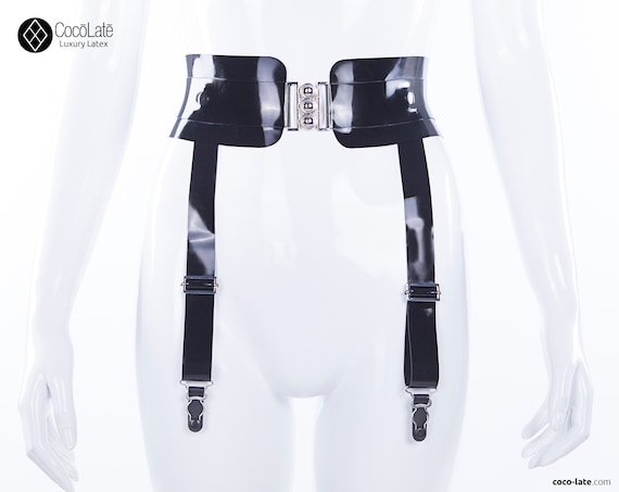 Eden Latex Belt With Suspenders