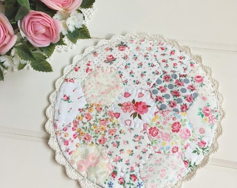 a most lovely hexie patchwork doily no. 1
