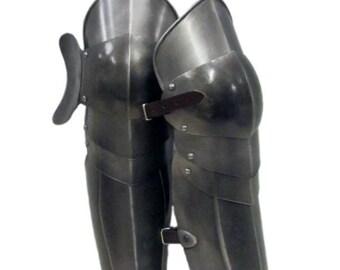 Larp Armor, Articulated Greaves, leg armor, medieval armor, cosplay armor, warrior armor