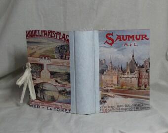 Vintage travel Journal hard cover