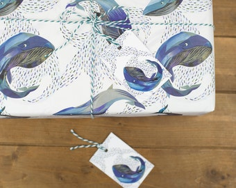 Whales in the Water - 100% Recycled