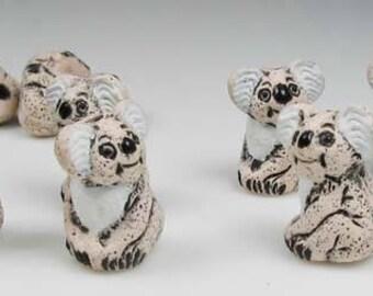 4 Tiny Koala Bear Beads