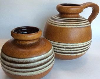 Vintage mid century German Schuerich Ceramos Vases 1 of 2 available