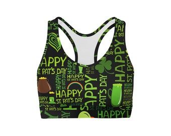 Happy St Patricks Day Sports Bra