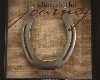 Framed Horseshoe - Cherish the Journey