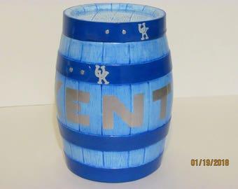 UK Ceramic Barrel with Removable Lid