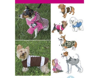 Simplicity Sewing Pattern 1239, Dog Coat, Dog Cargo Coat, Dog Clothes, Dog Hoodie, New Uncut Pattern