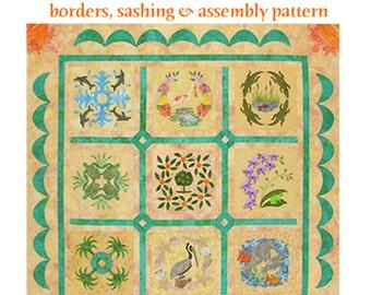 Florida Album finishing Applique quilt pattern