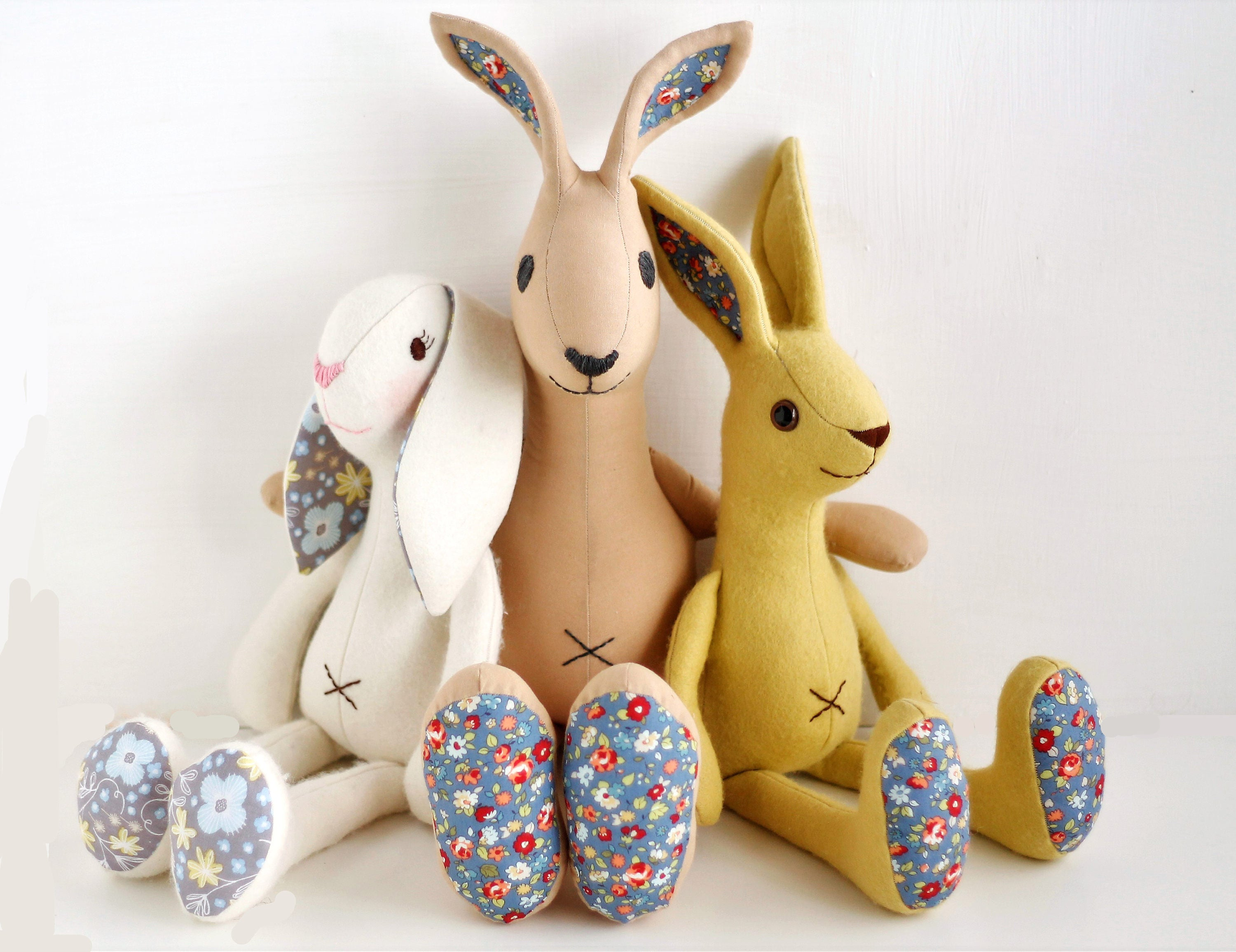 Bunny rabbit sewing pattern bundle from left to right floppy ear bunny rabbit sewing pattern bundle from left to right floppy ear rabbit hare and jackrabbit pdf files for instant download jeuxipadfo Image collections