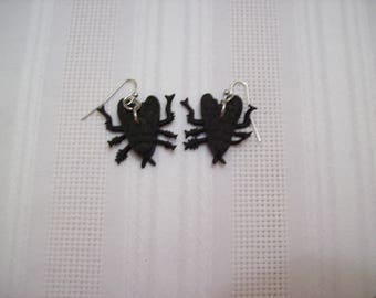 Gothic Punk Insect/Bug/Fly Earrings Nichol Free Silver Color Wires