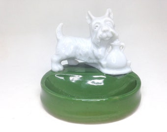 Vintage Estate SCOTTY DOG Jewelry Dish Trinket Tray Made in Japan