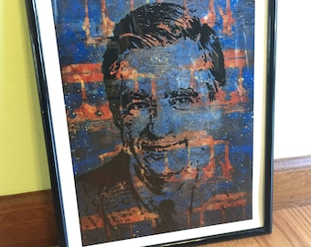 Mister Rogers fine art print, pop art, Fred Rogers, Pittsburgh, 11x14, wall art, hero, childrens tv, pbs, neighborhood trolley make believe