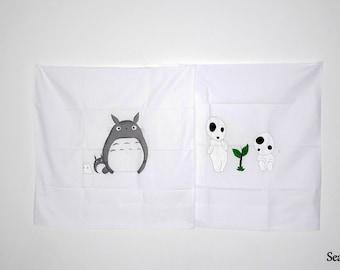 Pillowcase Totoro & Kodama / My neighbor Totoro / Princess Mononoké, forest spirit