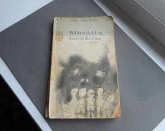 Lord of the Flies - William Golding - UNFINNISHED - penguin modern classics - paperback - fiction - literature - vintage books - retro
