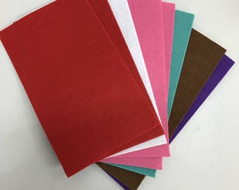 Trendy felt plates mix, approx. 100 gr, 1 mm, color-sorted