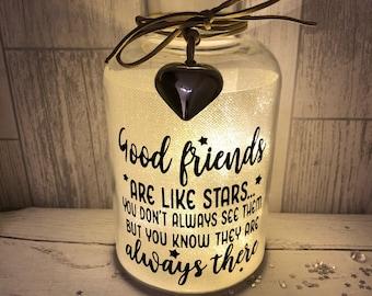 Good friends led light jar