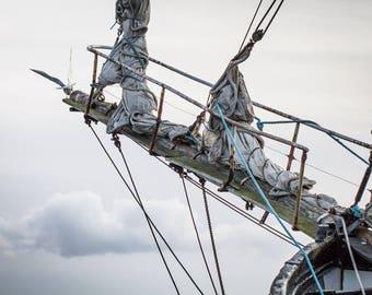 Sailboat Print - Sky Sailor Fine Art Photograph - Irish Sailing Art