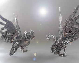 chinese roosters, silver roosters, year of the rooster