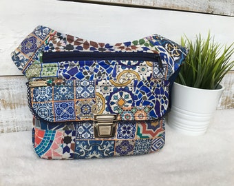"""Exclusive handmade Fanny Pack - Bag - Bandolier """"Waterproof Gaudí"""". From Barcelona with love! Unique Piece Number 4279"""