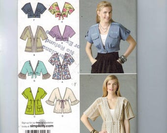 Misses Sewing Pattern Simplicity 2223 Misses Jacked in Two Lengths with Trim Variations Size 16 18 20 22 24 UNCUT