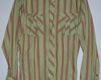 Nice Vintage Mens Tem-Tex Western Sportswear Extra Long Tails 15-1/2 - 33