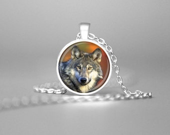 WOLF NECKLACE WOLVES Pendant Wolf Art Wolf Pendant Wolves Necklace Wolf Charm Necklace Wolf Jewelry Wolf Totem Wolf Gift Wolves Gift