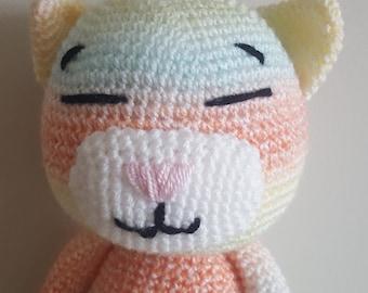Amigurumi rainbow cat