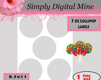 YOU Design!!! Lollipop labels Templates!!