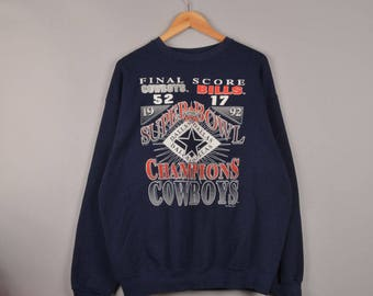vintage tultex super bowl XXVII final score champions dallas cowboys sweater, vintage sweatshirt, oversized sweater, nfl sweater, jersey