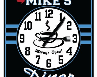 Personalized Diner Kitchen Wall Clock