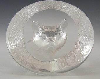 Mats Jonasson Glass Fox Paperweight #9177 - Signed