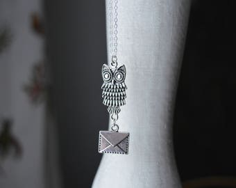 Owl Mail Necklace