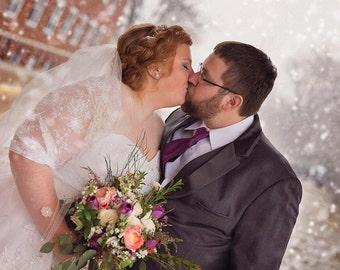Plus Size Bridal Bolero. Wedding Shawl With 4 Wearing Options- Shawl, Shrug, Crisscross And Scarf. Ivory Lace Bolero, Wedding Shawl (DL-ps)