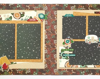 Cabin Fever 2 Page Scrapbook Kit