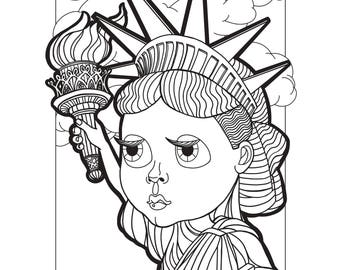 Series I PDF  |  Four Total Babesville: New York Edition Coloring Pages