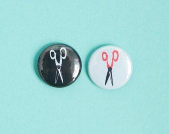Scissors One Inch Button