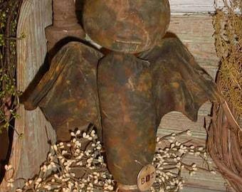 Primitive Halloween Vampire BAT Makedo Doll