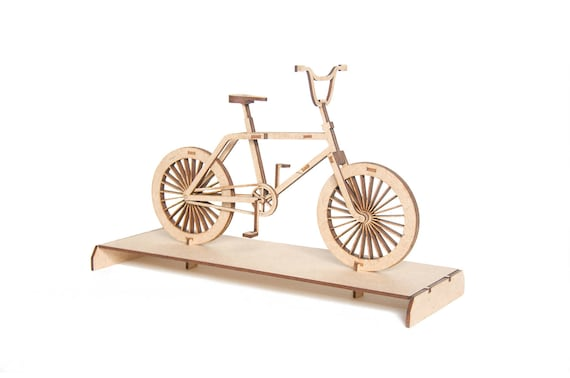 3d puzzle laser cut diy gift gift for cyclist bike lover