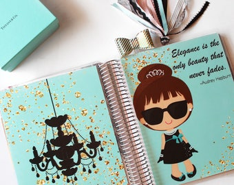 "Planner Cover Set: ""Audrey"" 10 Mil Laminated for use with ERIN CONDREN LIFEPLANNER™"