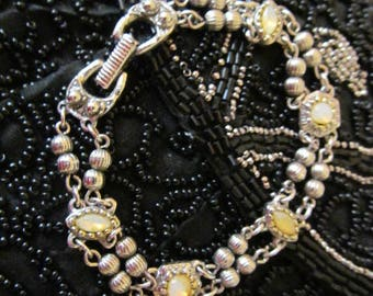 Goldette NY Bracelet Vintage Silver Tone