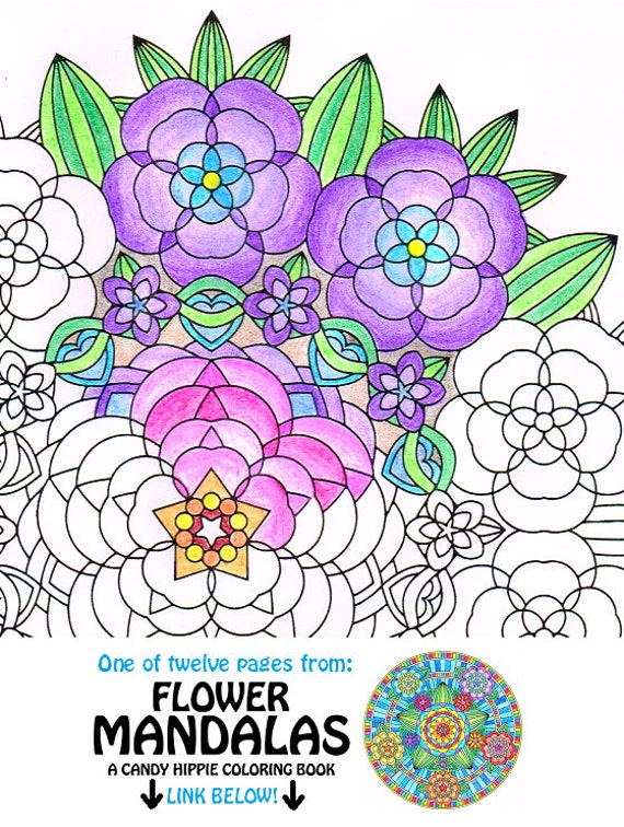 Items Similar To Mandala Coloring Page