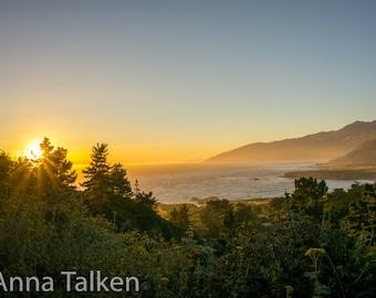 Big Sur Sunset Photograph