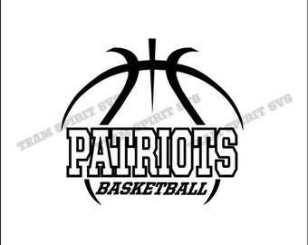 Patriots Basketball Outline Download Files - SVG, DXF, EPS, Silhouette Studio, Vinyl / Digital Cut Files -Use with Cricut and Silhouette