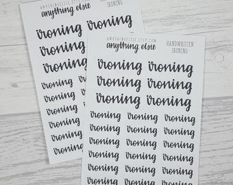 Ironing - Handwritten Collection - Planner Stickers for Erin Condren, Happy Planner, BuJo - Housework, Laundry