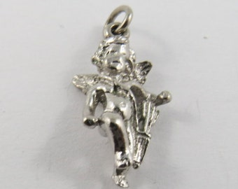 Cupid Sterling Silver Charm or Pendant.