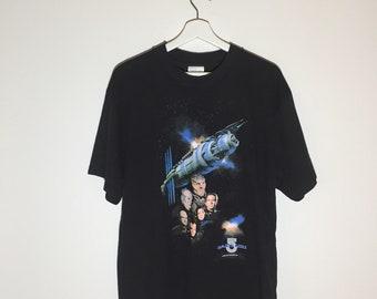 Babylon 5 rare vintage 1994 black tshirt - Large