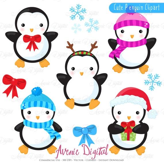 christmas penguins clipart scrapbook printables holiday clip art rh etsystudio com scrapbooking clip art images scrapbooking clipart